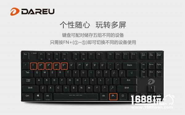 职场精英范式 达尔优EK820超薄蓝牙机械键盘[多图]图片4