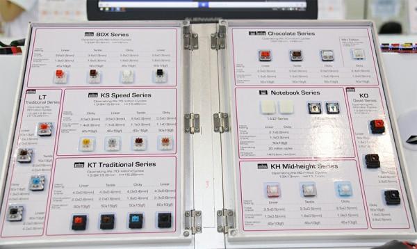 凯华Kailh携新轴体 纪念版键盘亮相香港电子展[多图]