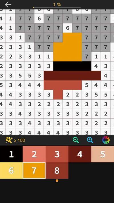 数字和像素艺术的颜色游戏图3