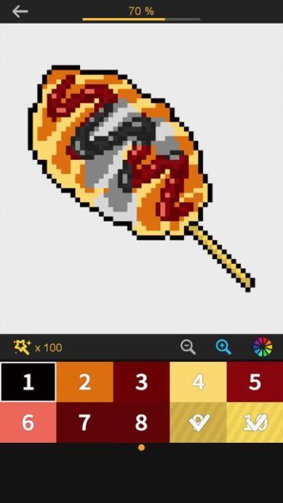 数字和像素艺术的颜色游戏图2
