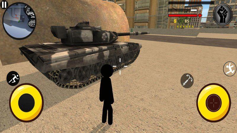 火柴人绳索英雄3警察射击游戏安卓版下载图片2