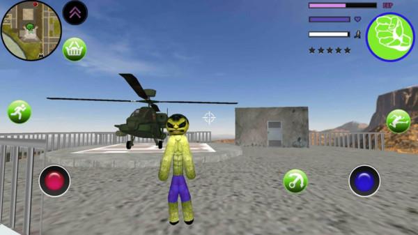 绿巨人火柴人绳索英雄游戏图2