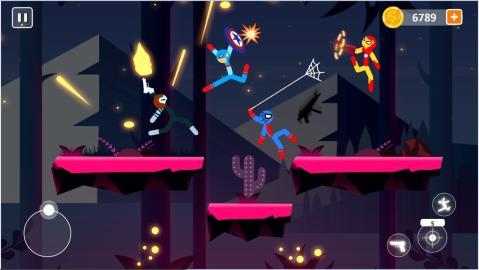 棒影超级战士战斗安卓游戏图片1