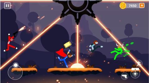 棒影超级战士战斗游戏图2
