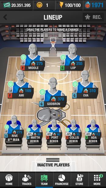 篮球大师联赛游戏图1