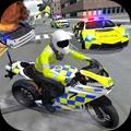 警车驾驶骑摩托车