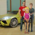 虚拟真正的母亲幸福的家庭