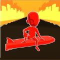 三维彩色冲浪