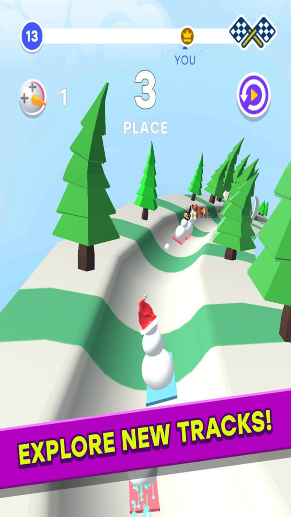 雪人竞赛3D游戏图3