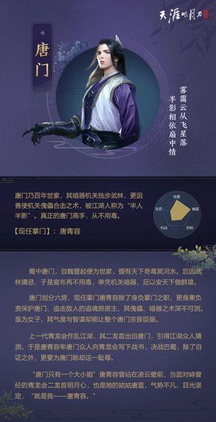 天涯明月刀手游唐门攻略 2020最新门派玩法介绍[多图]图片2