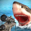 饥饿的鲨鱼猎人攻击3D