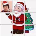圣诞老人朋友圈拼图图片