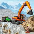 雪地越野施工挖掘机