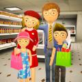 购物商城火柴人家庭