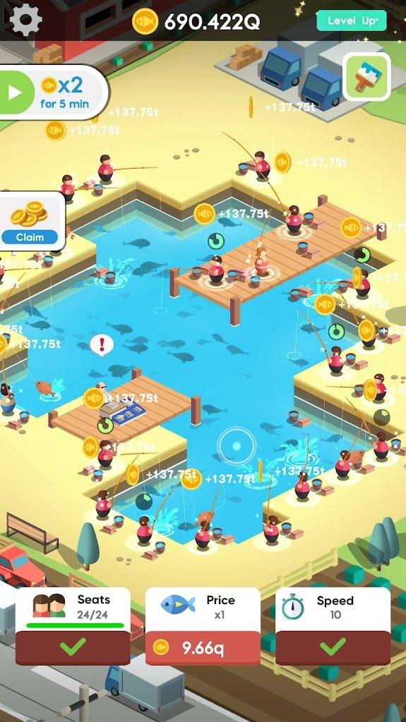 空闲钓鱼俱乐部游戏图1
