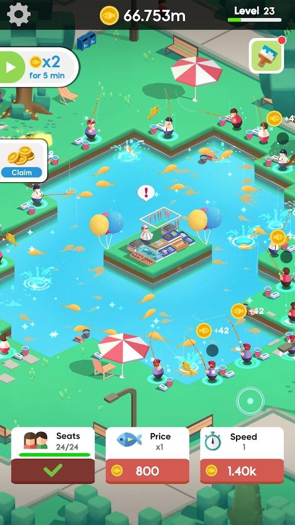 空闲钓鱼俱乐部游戏图2