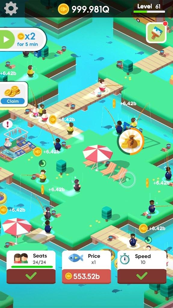 空闲钓鱼俱乐部游戏图3