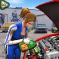 车库汽车修理工