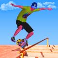 滑冰比赛和专业滑板无尽3d