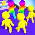 彩色跑步人