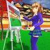 动漫女孩生活高中3D