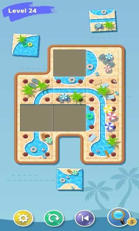 游泳池拼图游戏图2